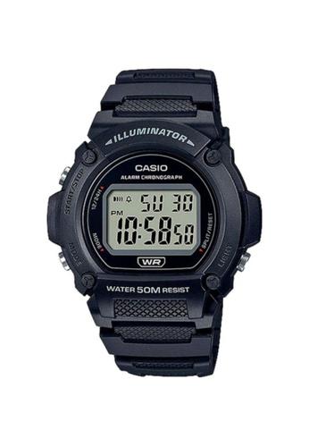 Casio black CASIO GENERAL W-219H-1AVDF MEN'S WRISTWATCH 9B9C6AC06B57D3GS_1