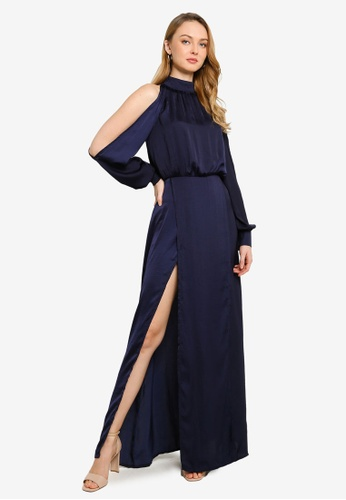 5415d3ddcc Buy MISSGUIDED Split Front And Sleeve Maxi Dress Online on ZALORA ...