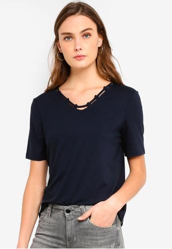 ESPRIT navy Short Sleeve T-Shirt 46163AA783265BGS_1