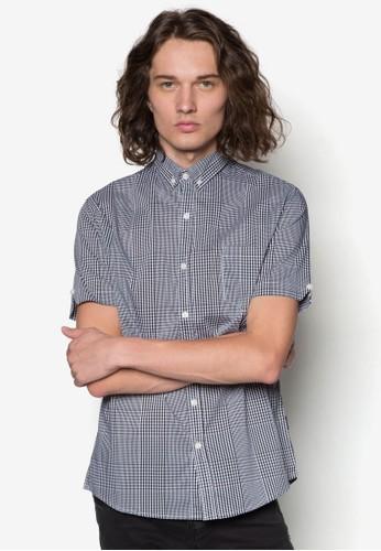 格紋短袖襯衫,esprit香港門市 服飾, 服飾