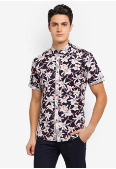 【ZALORA】 Printed Short Sleeve Shirt