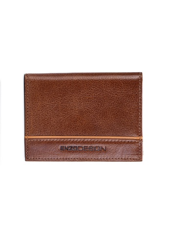 ENZODESIGN brown ENZODESIGN Leather Slim Bifold Card Holder (With Hidden Side Pockets) 05B3AACEFF28ADGS_1