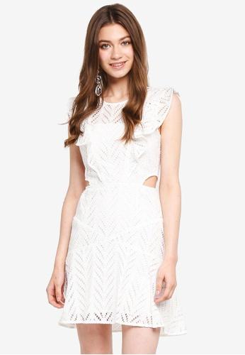Bardot white Kira Frill Dress BA332AA0ST9IMY_1