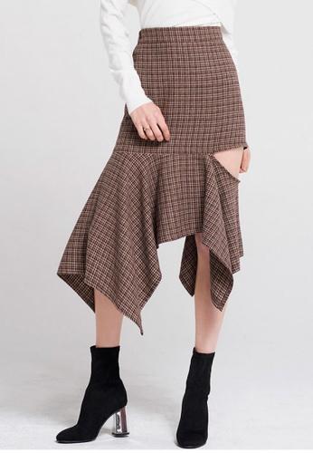Storets red Jennifer Cutout Zipper Skirt ST450AA0H96ISG_1