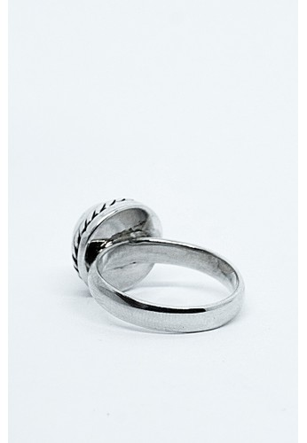 Kastara Silver white and silver Simple Peal Whitepeal Ring 6040DAC1C30735GS_1