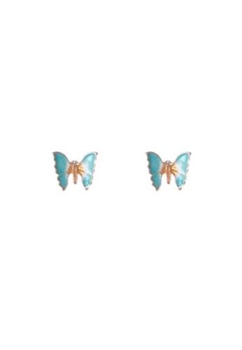 Glamorbit blue Blue Butterfly Statement Earrings B8C59AC40C1EE9GS_1