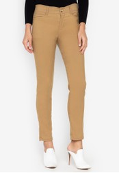 D Fashion Engineer brown Wear-to-Work Stretch Pants 96EA0AA26F9714GS_1