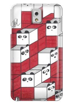 Panda Blocks Matte Hard Case for Samsung Galaxy Note 3