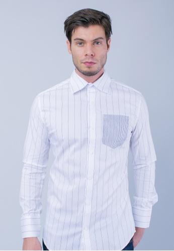H2 by LEEYANARAHMAN black and white Raizo Shirt of Black Stripe LE767AA0T0PKMY_1
