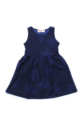 Mini Moley navy Camo Print Girl's Dress D6CB1KA3021DA1GS_1