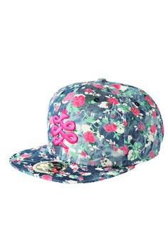 Baem Korea Rose Flower Pattern Snap-back Baseball Cap