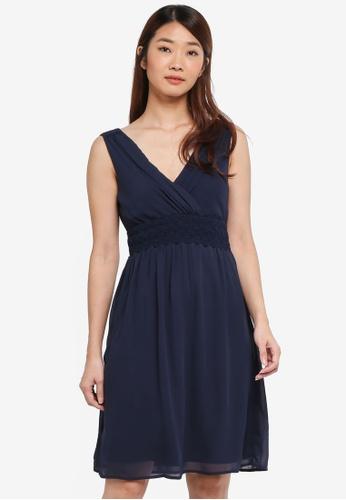 Vero Moda navy Vero Moda Sky Mini Dress 97C59AA0545185GS_1