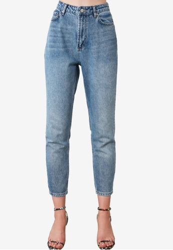 Trendyol blue High Waist Mom Jeans 275A2AAE86180BGS_1