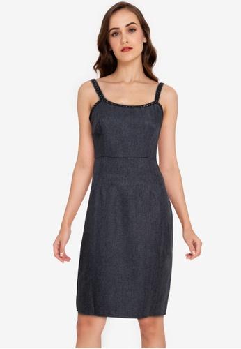 ZALORA WORK black Tweed Dress EE181AABD6F00BGS_1