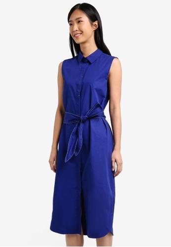 Mango blue Belt Shirt Dress MA193AA0RXR5MY_1