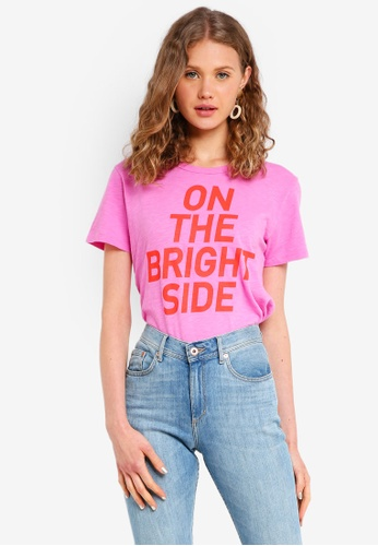 J.Crew pink On The Bright Side Tee 52384AA1748F24GS_1