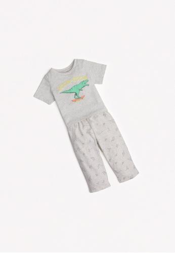 Gingersnaps grey Baby Boys Loose Pajama Set 48757KAE97CF54GS_1