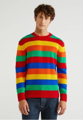 United Colors of Benetton multi Sweater in Shetland Wool 36CBEAA817D412GS_1