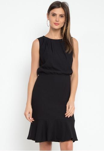 Susto The Label black Mari Mid Dress B92E0AA4B704C2GS_1