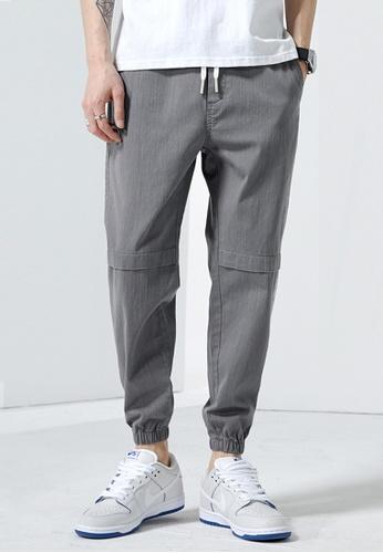 Trendyshop grey Skinny Jogger Pants DB1BAAA86FF589GS_1