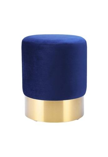 DILAS HOME Gold x Velvet Pouf (Royal Blue) D6C27HLDCD2519GS_1