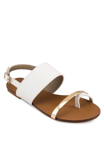 Xandriaesprit 見工 套趾寬帶繞踝平底涼鞋, 女鞋, 鞋