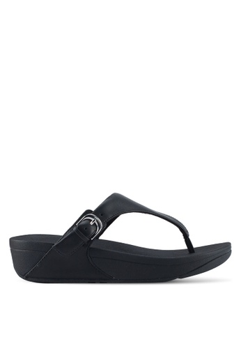 FitFlop black The Skinny Toe-Thong Sandals DD097SHF92CF62GS_1