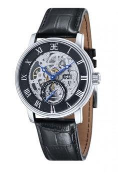 Thomas Earnshaw WESTMINSTER ES-8041-01 Men's Black Genuine Leather Strap Watch