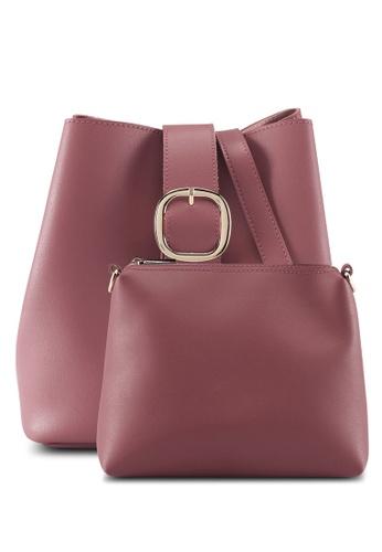 Perllini&Mel pink Faux Leather Sling Bag A3DADAC1FA19F9GS_1