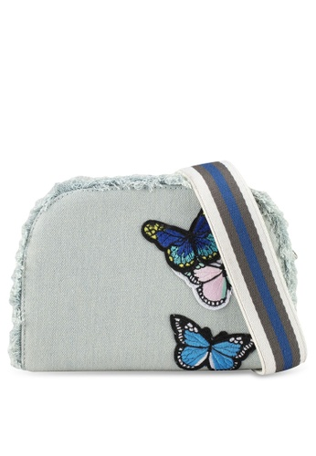VINCCI blue Denim Shoulder Bag 48179AC36CF9D2GS_1