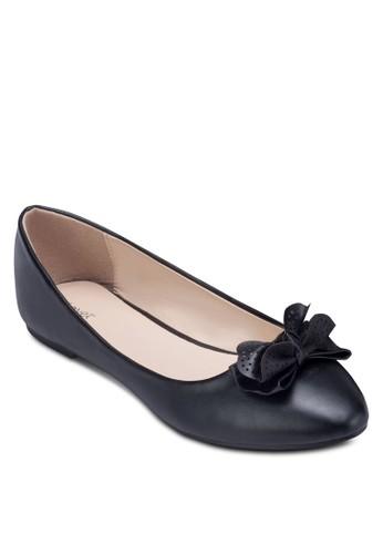 點點蝴蝶結平底鞋, zalora 泳衣女鞋, 鞋