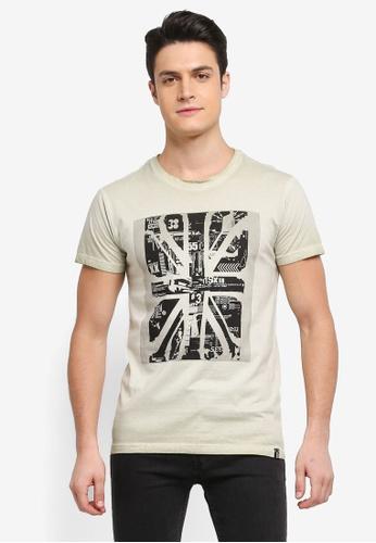 Indicode Jeans 白色 短袖圖案印花T恤 1B99DAAD89F2A2GS_1