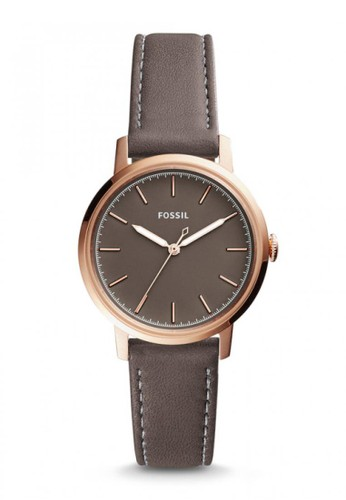 Fossil brown Fossil Jacqueline - Black Dial 36 mm - Leather - Grey  - Jam Tangan Analog Wanita - ES4339 045CDACC621C31GS_1