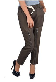 Women's Skinny Pants with Full Zip