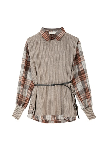 Its Me multi Two-Piece Checkered Sweater FC5A8AA0746C1AGS_1