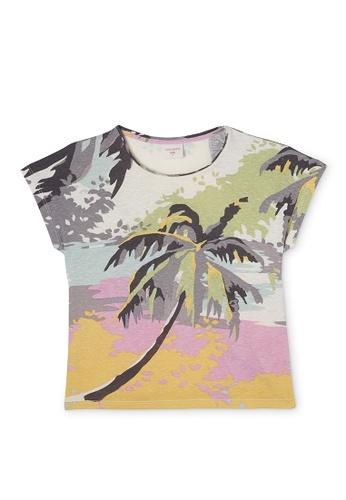 Gen Woo multi Tropical Printed T-shirt By Gen Woo E3489KA24F9157GS_1