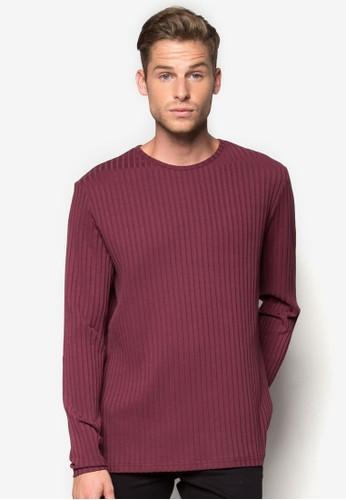 羅紋長袖衫, 服zalora taiwan 時尚購物網飾, 素色T恤