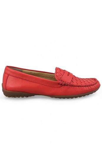 Shu Talk orange Nappa Breathable Loafer SH397SH0FPIRSG_1