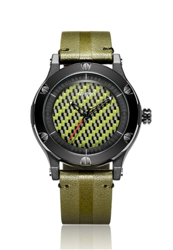 Assassin's Time green Assassin's Time MAZE Green Leather D165BAC052B97EGS_1