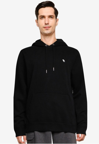 Abercrombie & Fitch black Long Life Neutral Icon Hoodie AD003AA1D1E2A6GS_1