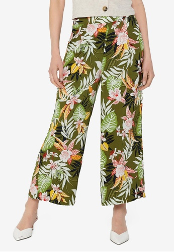 ONLY green Lizbeth Cropped Pants 2EAE5AA0AB8D7AGS_1