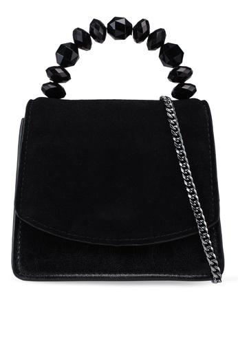 Violeta by MANGO black Leather Flap Bag A73A9AC67475D4GS_1