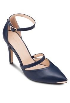 【ZALORA】 尖頭繞踝高跟鞋