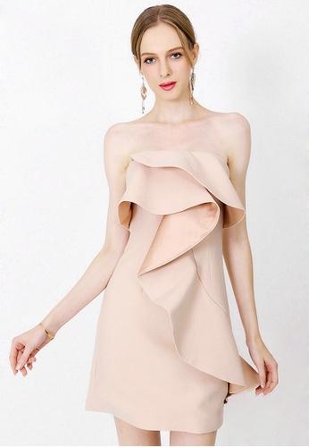 Urban Outlier white Ruffle Off Shoulder Backless Mini Dress 401B8AA33DF30BGS_1