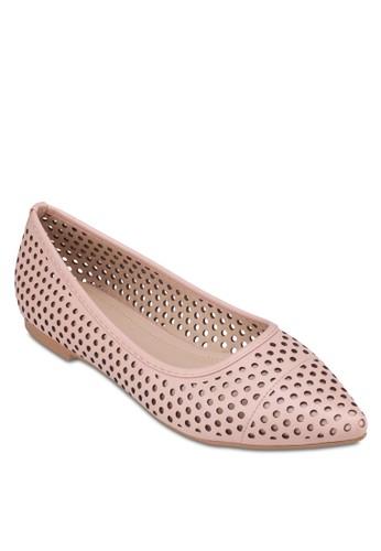 沖孔尖頭平底鞋zalora 台灣門市, 女鞋, 芭蕾平底鞋