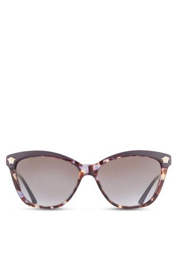 Rock Icons Medusa esprit分店細金屬紋理鏡框太陽眼鏡, 飾品配件, 飾品配件