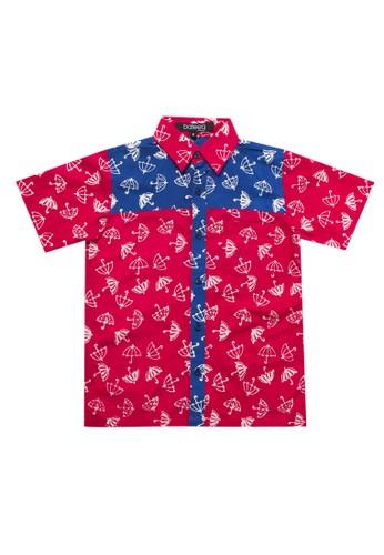 Bateeq red Boys S/S Ktn Cap Kombinasi CC43AKA75817EBGS_1