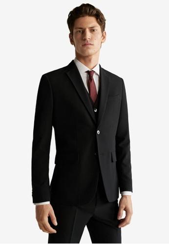 Mango Man black Slim Fit Suit Blazer 8B6FBAA0441C4BGS_1