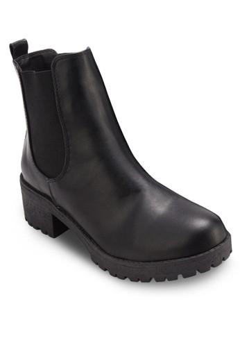 Kenickie 側彈性帶厚底zalora 順豐筒靴, 女鞋, 鞋