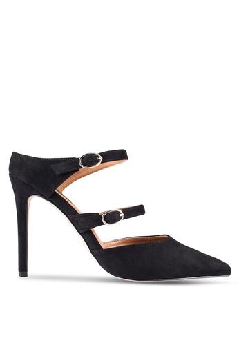 ZALORA 黑色 多色 Strap Mule 高跟鞋 84DDDZZ8A53B20GS_1